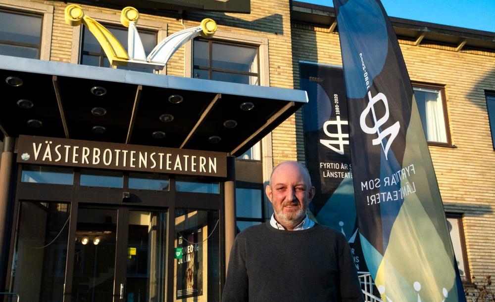 Ronny Andersson, teknisk chef på Västerbottensteatern. Foto: Sofia Lindblom.