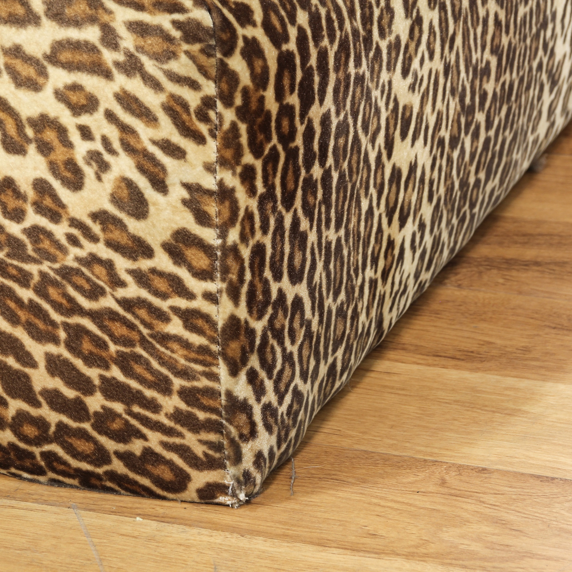 Leopard print chaise lounge loveseat vintage furniture for Animal print chaise