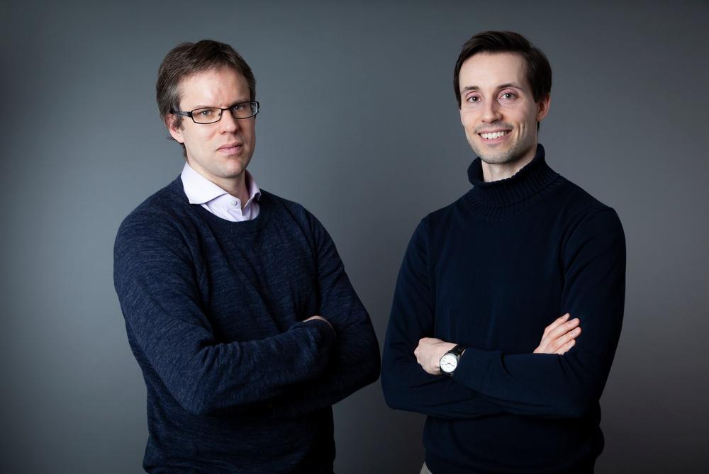 Författarporträtt: Patrick Siegbahn & Anderas Runnemo  Foto: Leonard Stenberg