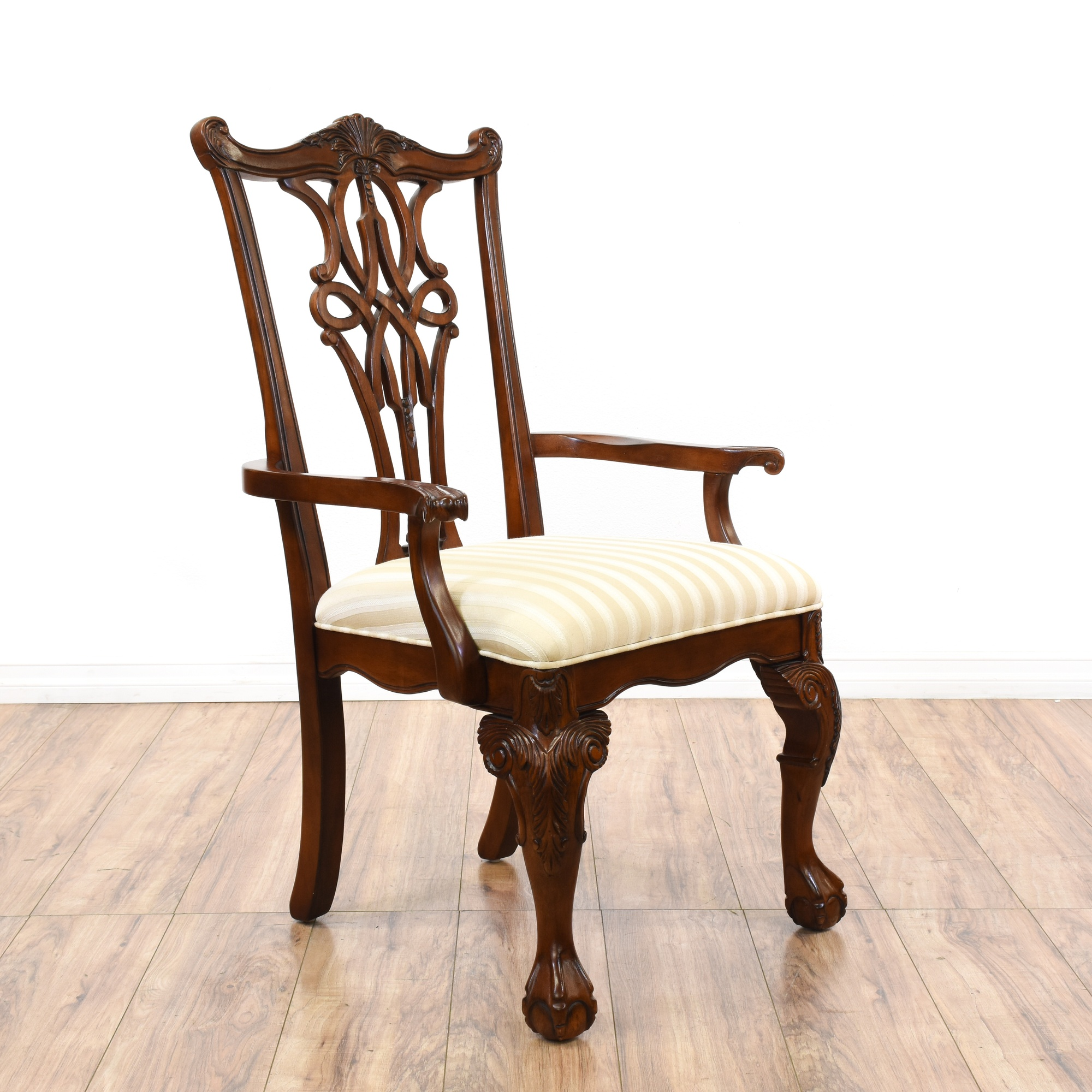 Dining Room Chairs San Diego: Set Of 6 Pierced Splat Chippendale Dining Chairs