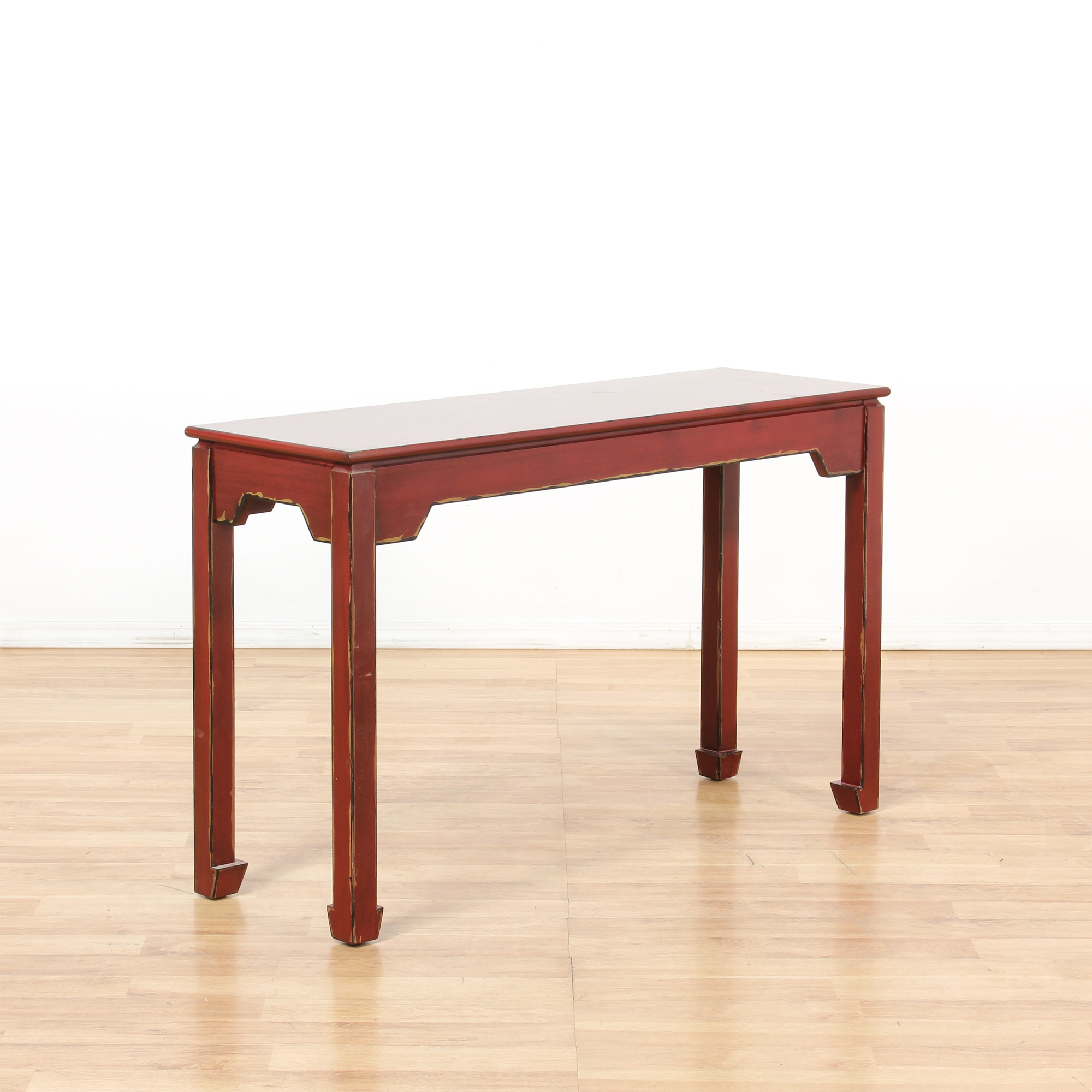 Pier One Red Asian Sofa Console Table Loveseat Online Auctions Los Angeles