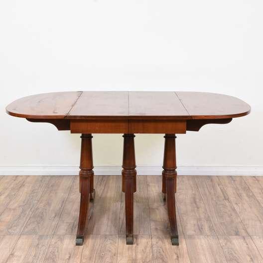 Duncan Phyfe Triple Pedestal Drop Leaf Table