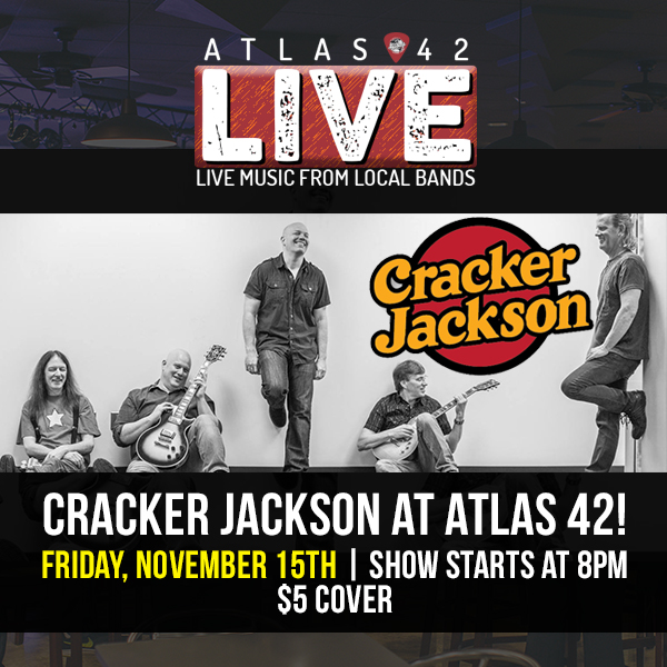 Atlas 42 - Cracker Jackson - November 15, 2019, 8pm