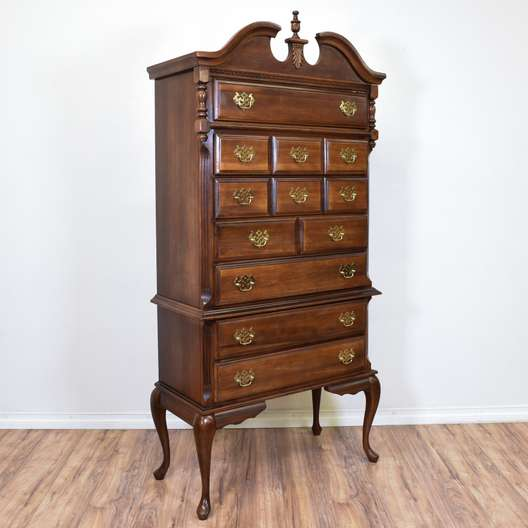 Carved Chippendale Highboy Dresser