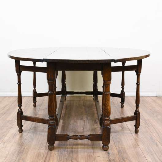 Antique Charles II Drop Leaf Dining Table 3