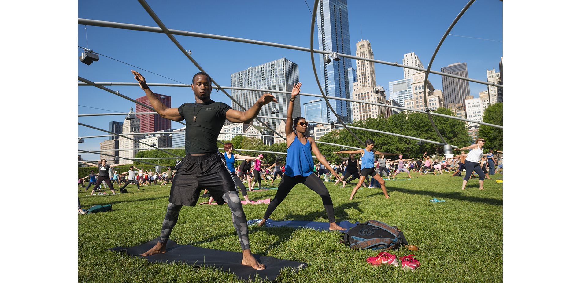Summer Fitness Series on the Jay Pritzker Pavilion's Great Lawn