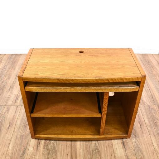Solid Oak Tv Media Stand Loveseat Vintage Furniture San Diego Los Angeles