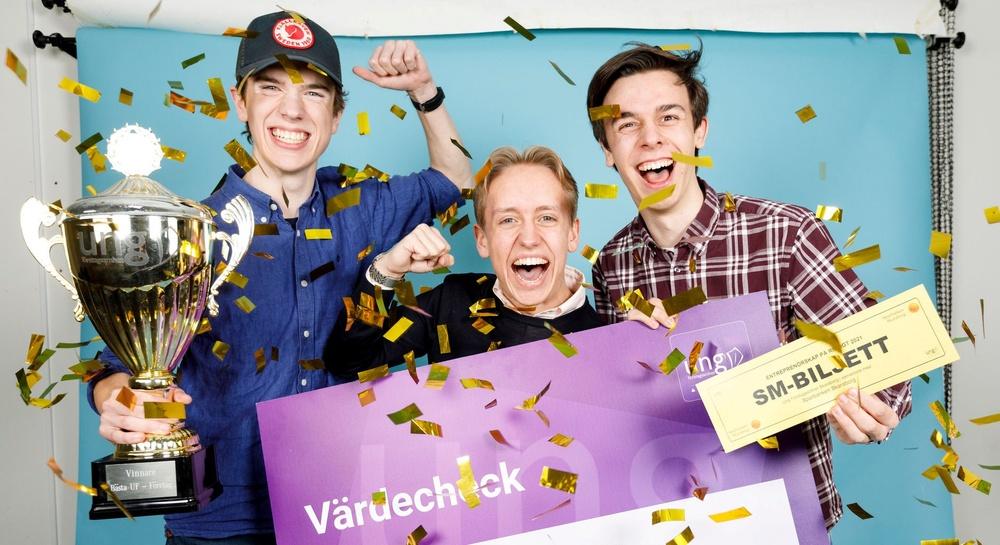 Bilden är tagen efter den regionala finalen i Skaraborg