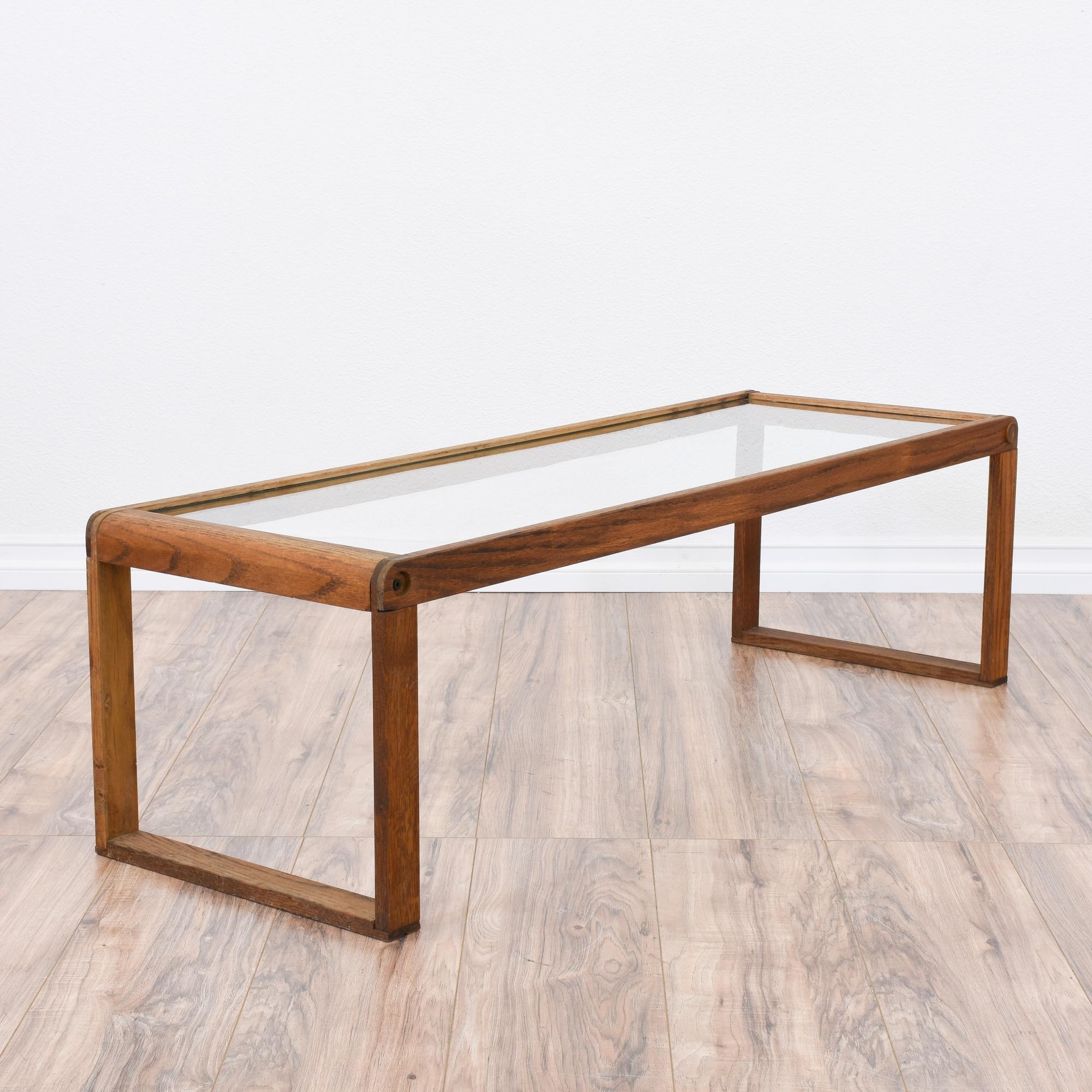 Mid Century Modern Glass Top Coffee Table Loveseat Vintage Furniture San Diego Los Angeles