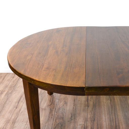 New Chateau Formal Traditional Rustic Cherry Finish Wood: Round Solid Wood Dining Table W/ 2 Leaves