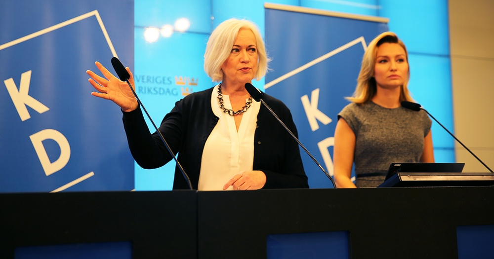 Acko Ankarberg Johansson och Ebba Busch