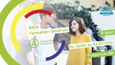 Représentation de la formation : Formation Générale BAFA Juin 2021 - Jeanménil (88)