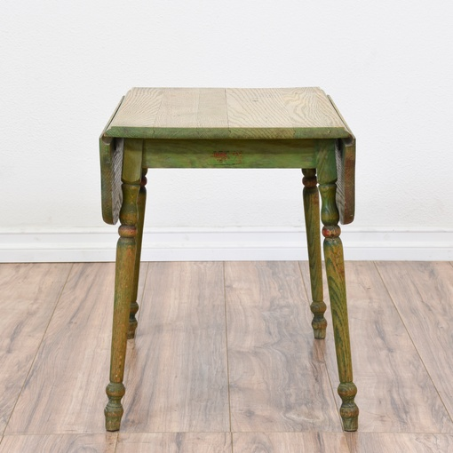 distressed shabby chic green drop leaf end table loveseat vintage furniture san diego los. Black Bedroom Furniture Sets. Home Design Ideas