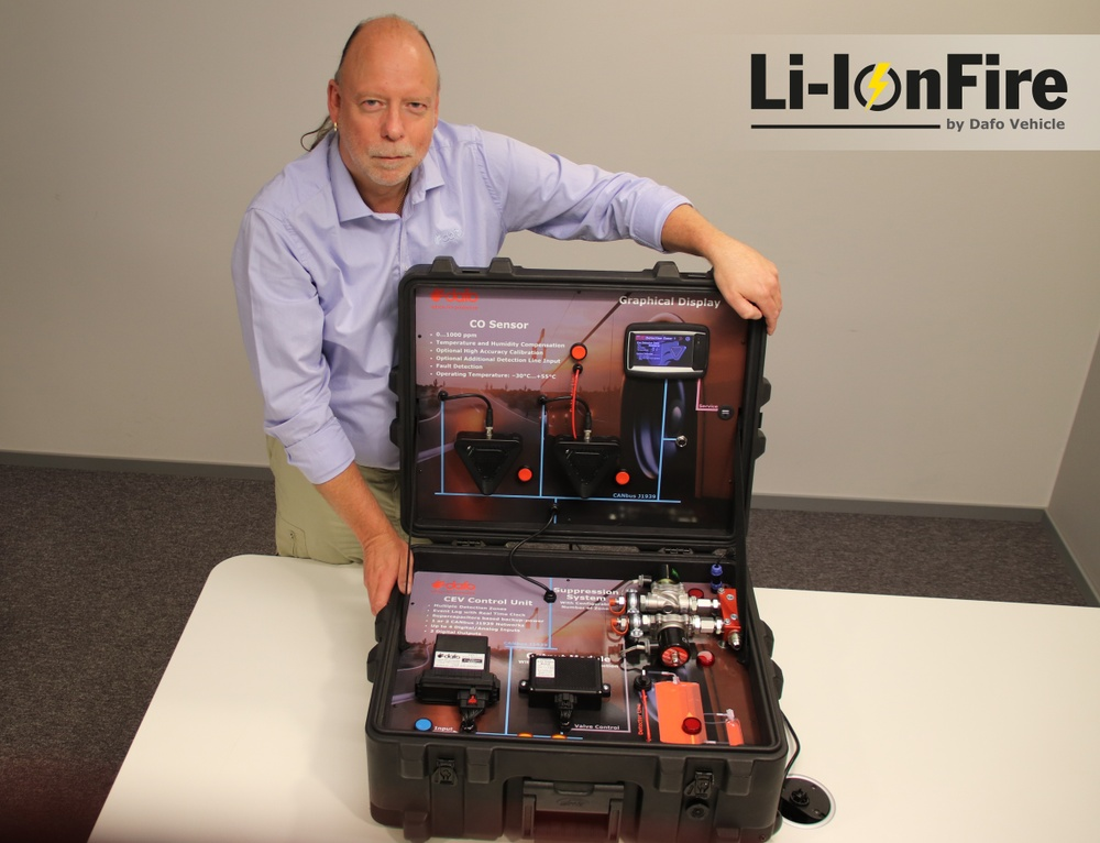 Anders Gulliksson R&D Manager at Dafo Vehicle Fire Protection presents Li-IonFire