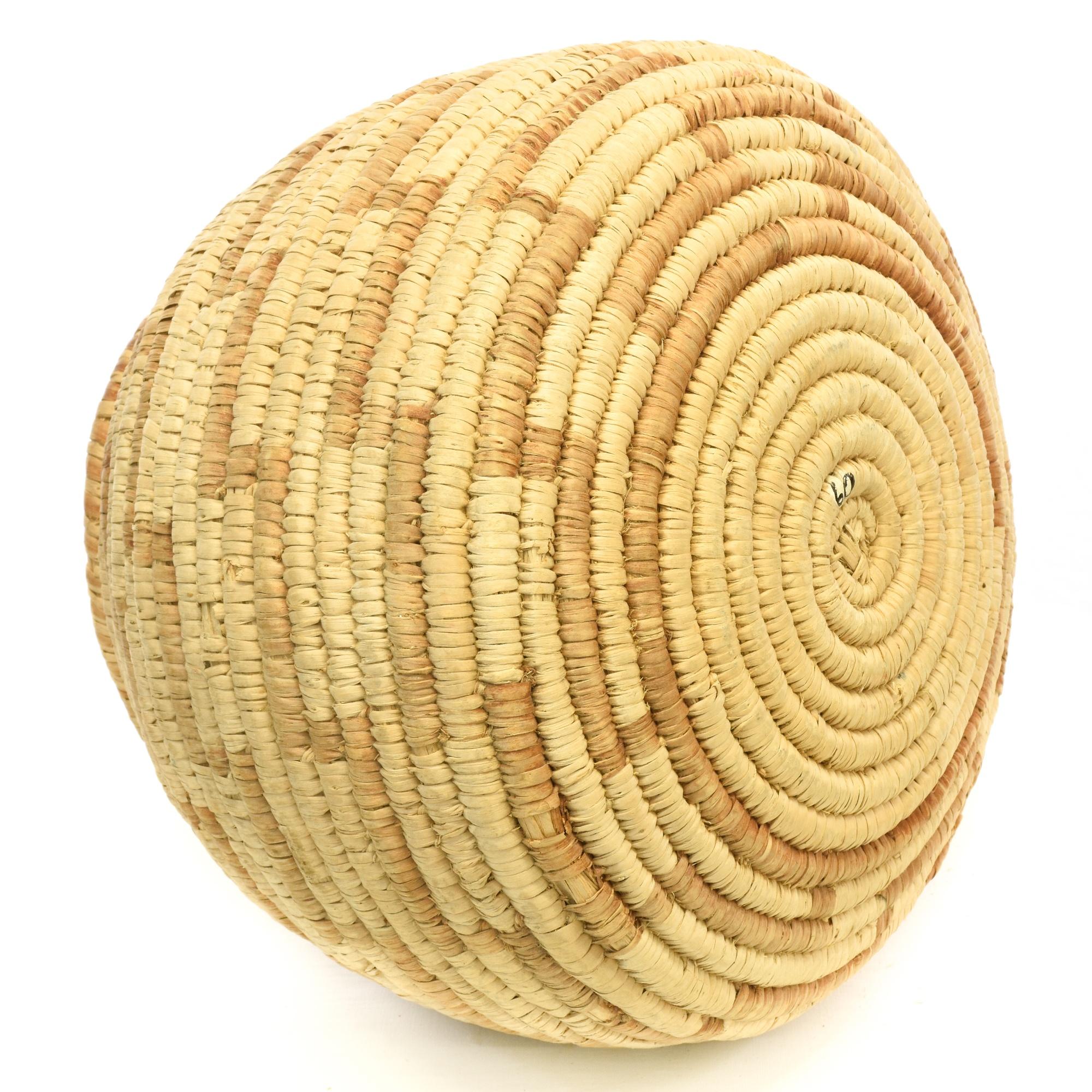 Handmade coil baskets : Bohemian handmade woven coil bowl basket loveseat