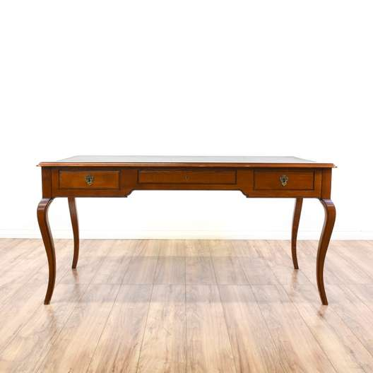 Neoclassical Leather Top Writing Desk