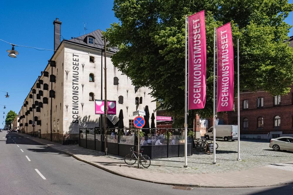 Scenkonstmuseets södra gavel sedd från Strandvägen. Foto: Jonas André