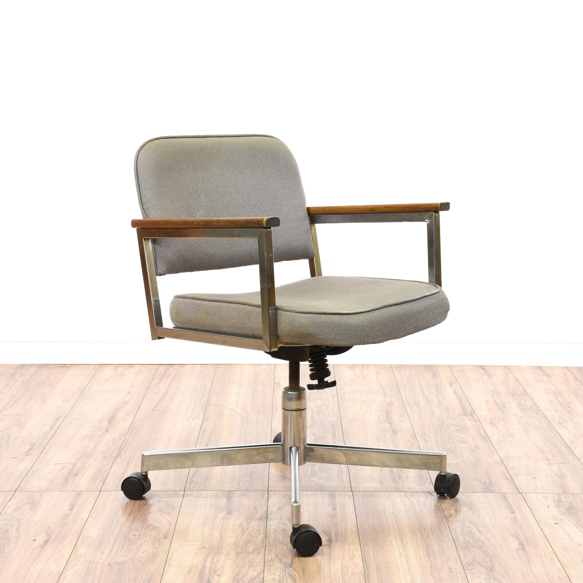 mid century modern chrome office swivel chair loveseat