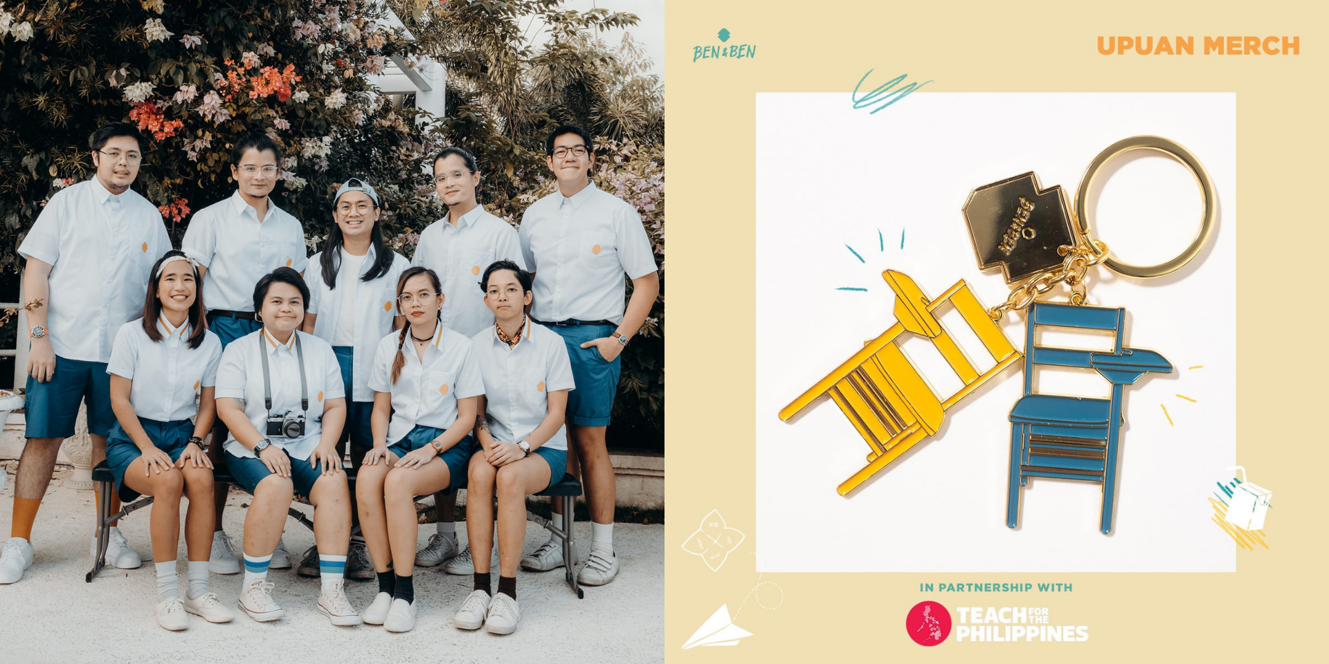 Ben&Ben team up with Teach for the Philippines for new 'Upuan' merch