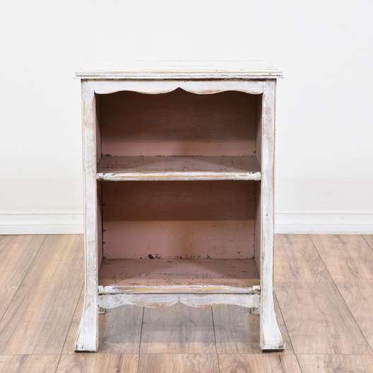 White Shabby Chic Carved Shelf