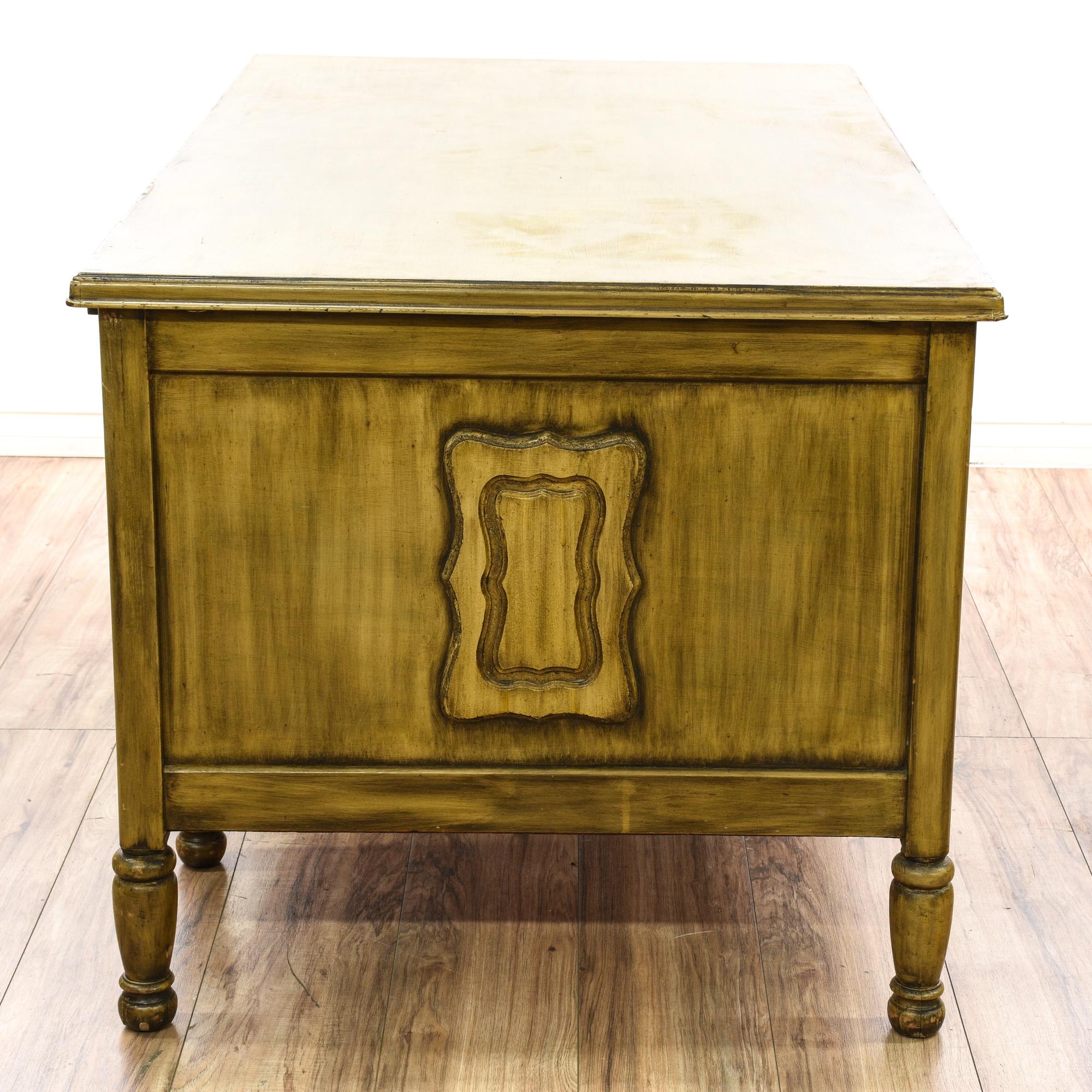 """Gunn Furniture Co "" Wood Executive Desk"