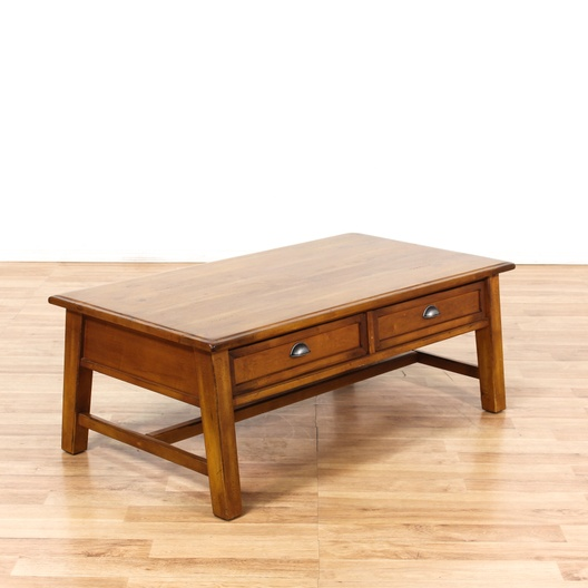 Mission Style 2 Drawer Coffee Table Loveseat Vintage Furniture Los Angeles