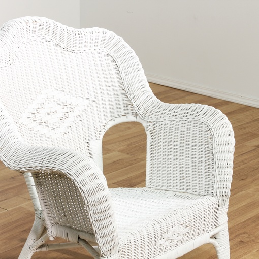 white wicker rocking chair w diamond design loveseat vintage furniture san diego los angeles. Black Bedroom Furniture Sets. Home Design Ideas
