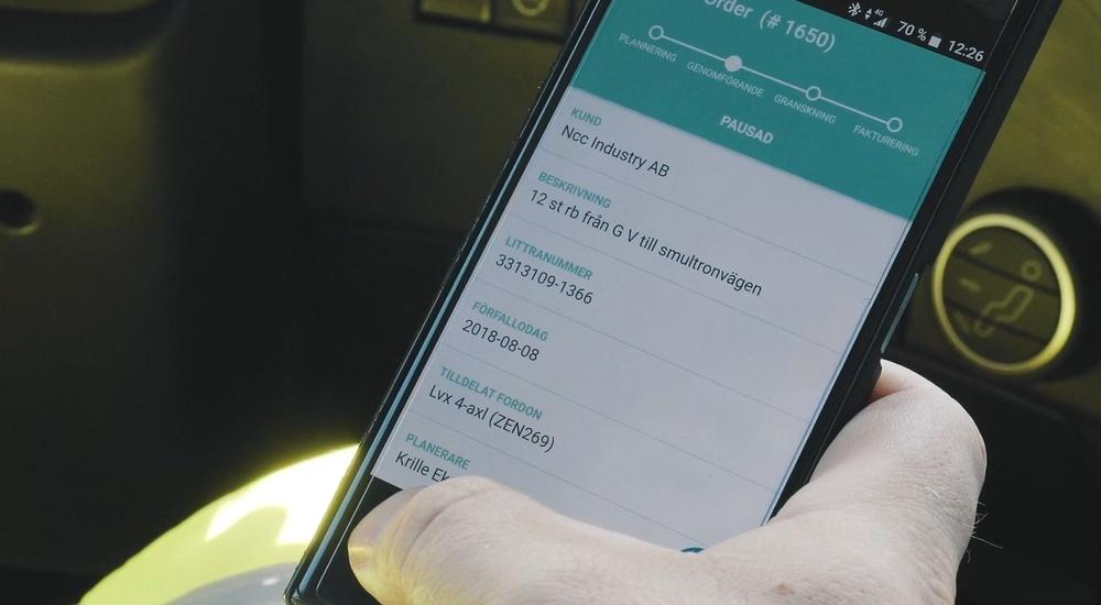 Workify erbjuder åkeriföretag en digital plattform, som ger bättre information om planerade och pågående uppdrag samt hur resurser används.