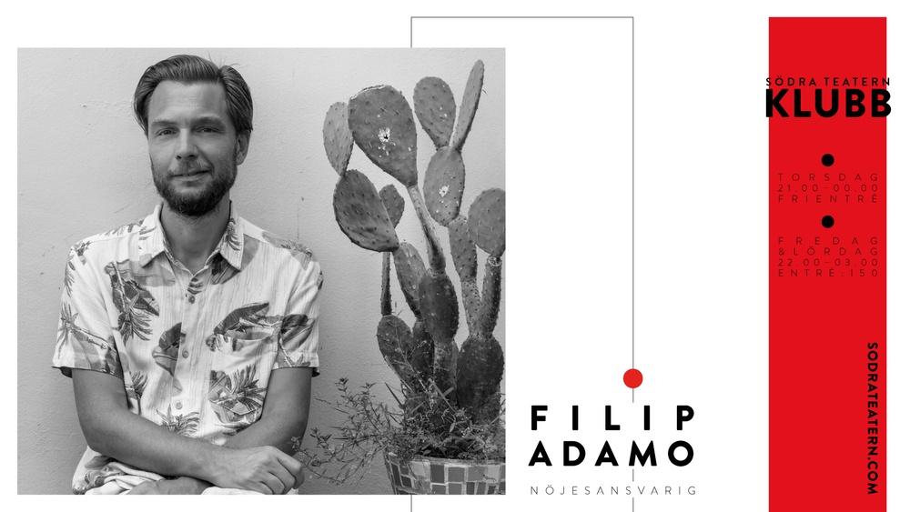 Filip Adamo nöjesansvarig för Södra Teatern. Foto: Lina Adamo