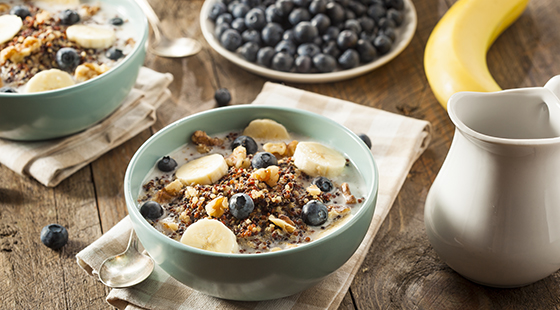 Organic breakfast quinoa