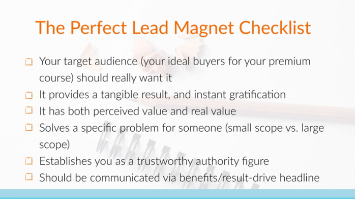 if youre teaching about facebook marketing you dont want to create a lead magnet talking about twitter