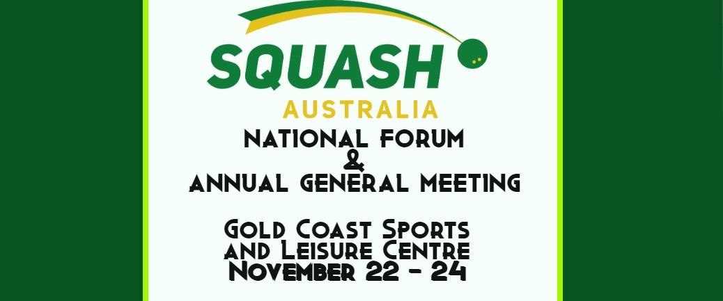 Squash Australia 2019 National Forum and AGM - Squash Australia