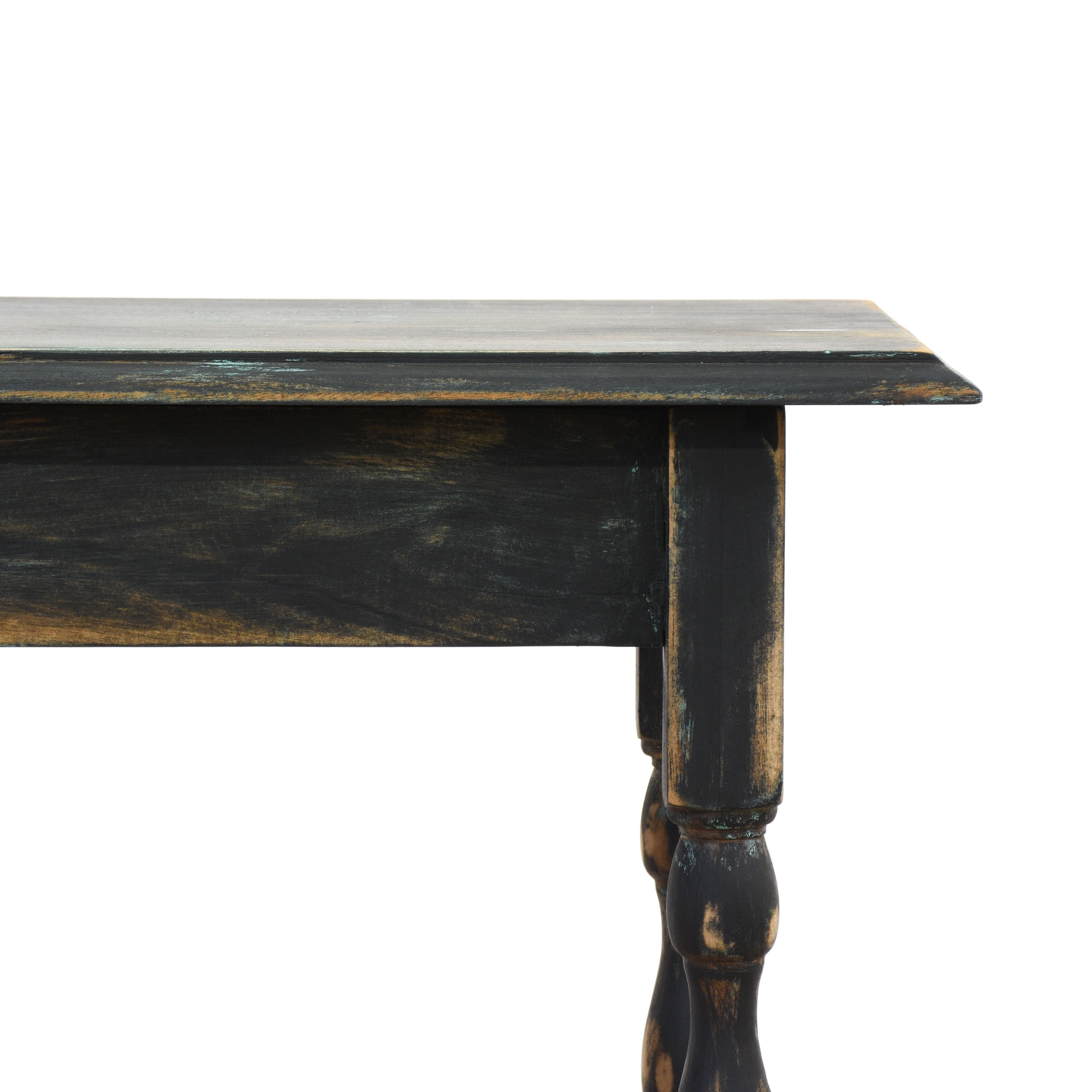 Black shabby chic console sofa table loveseat vintage