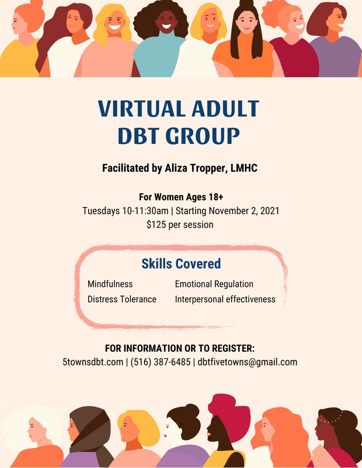 ADULT Virtual DBT Skills Group