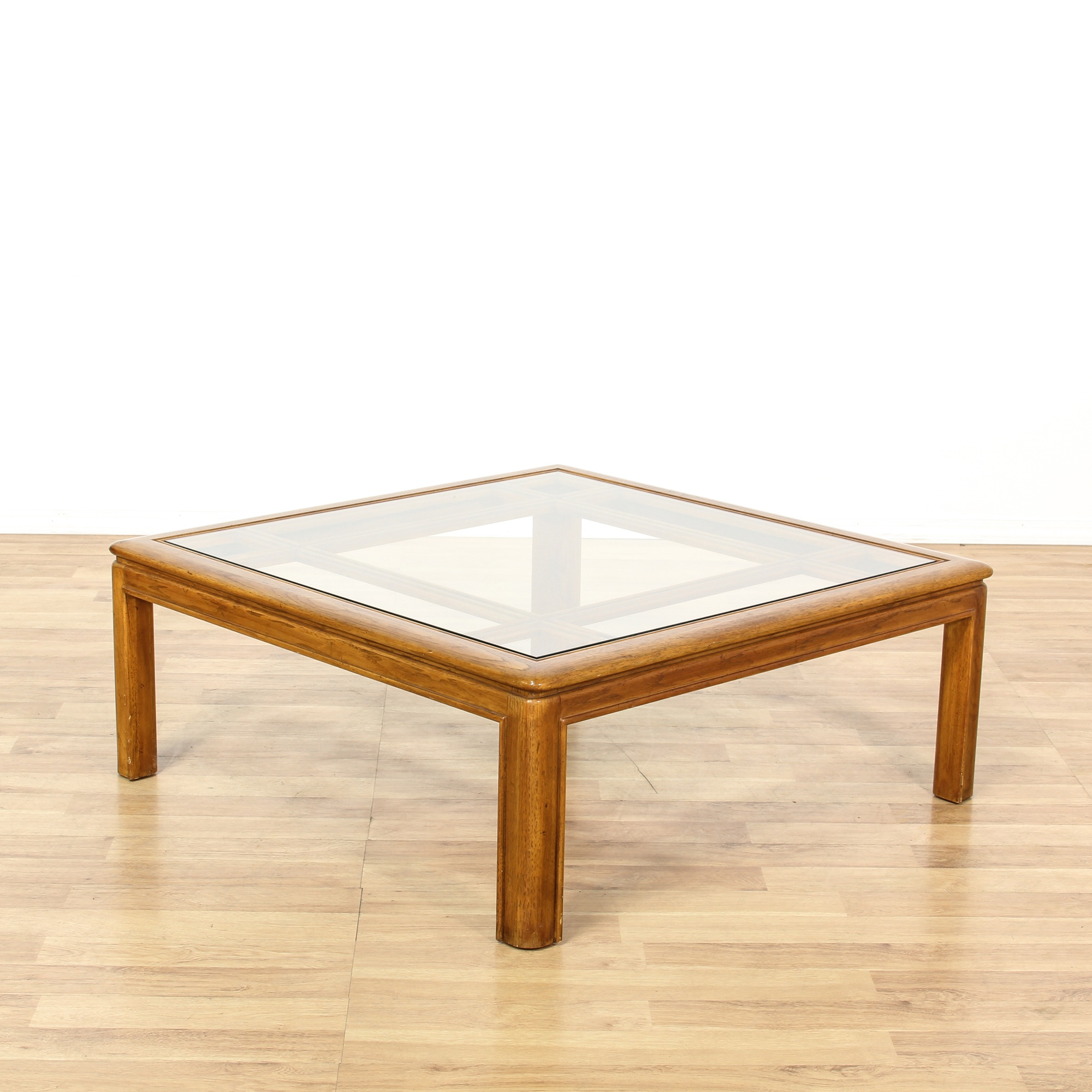 Drexel Square Glass Top Coffee Table Loveseat Vintage Furniture San Diego Los Angeles