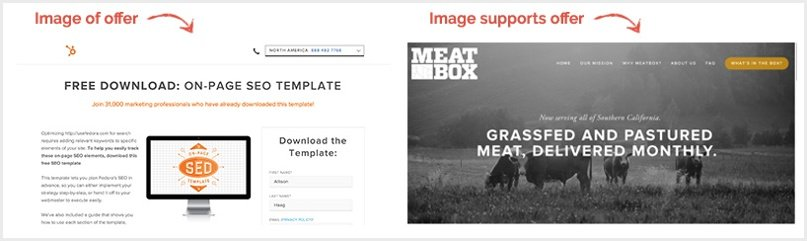Hubspot offer landing page, meatbox landing page