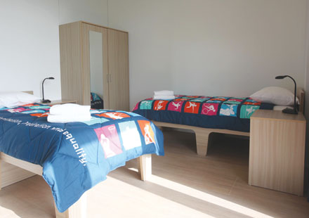 Olympic Village bedroom