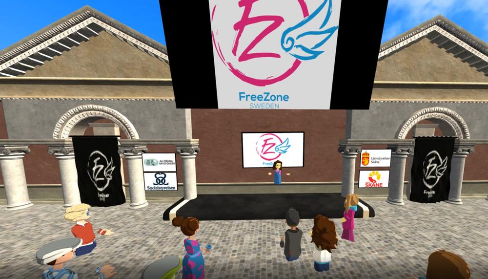 Viktoria Nordén från Freezone Sweden hälsar välkommen till VR-konferensen.