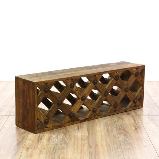 how to build a lattice wine rack