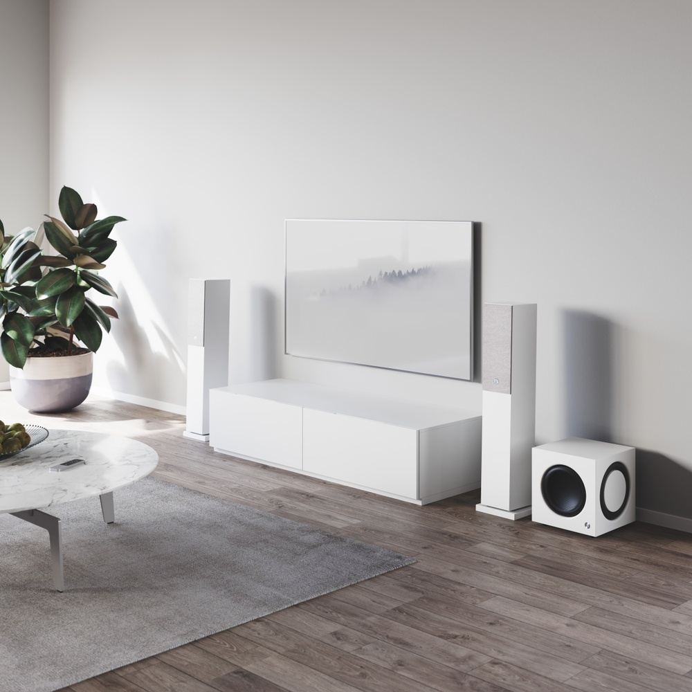 Audio Pro SW-10, white with A36