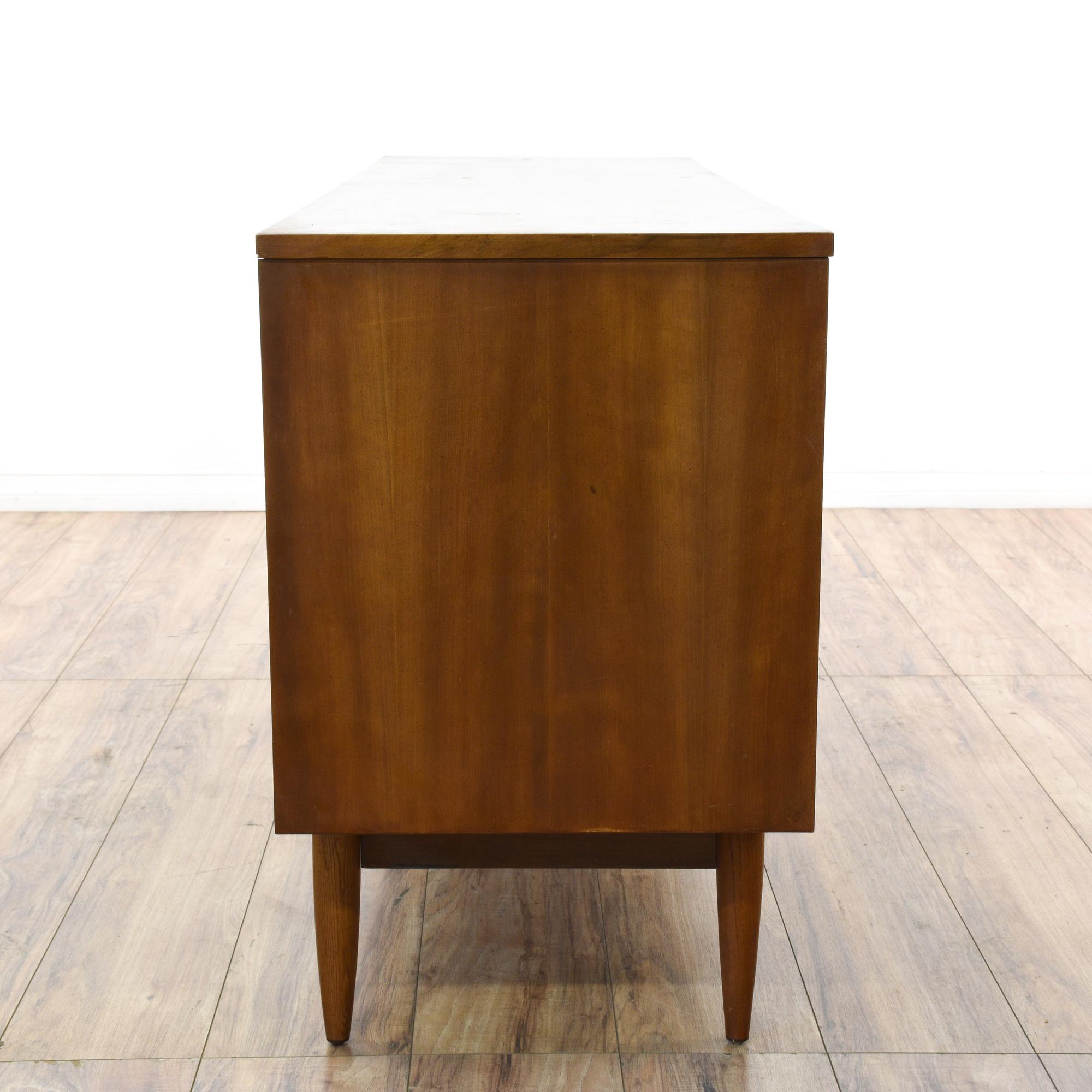 Dixie mid century modern walnut dresser loveseat for Mid century furniture san francisco