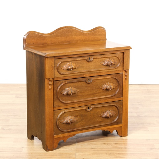 Eastlake Carved Cherry Chest Of Drawers Loveseat Vintage