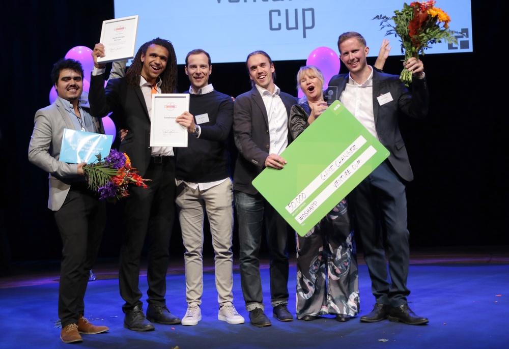 Teamet bakom Woshapp, vinnarna av priset Game Changer 2018. Foto: Victor Ackerheim