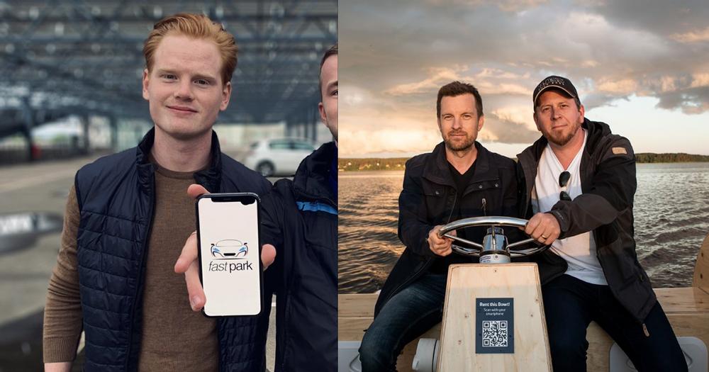 Albin Samuelsson, Fastpark Ab, samt Jonas Ulveseth och Joakim Spetsmark, Bowter.