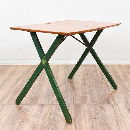 Folding Green Wood Work Table