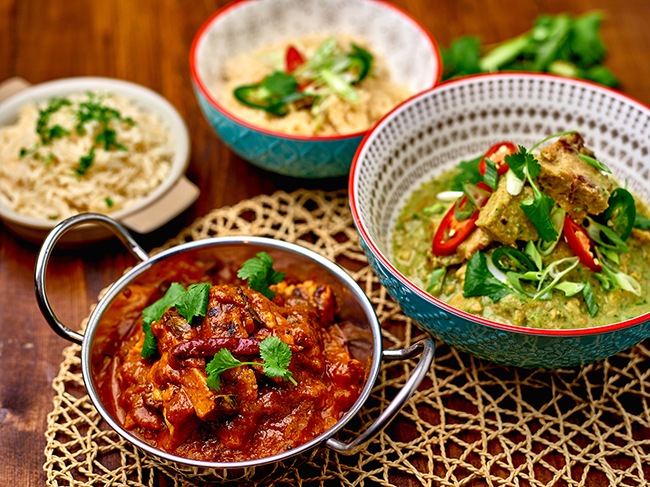 Curries made from Central Foods KaterVeg range
