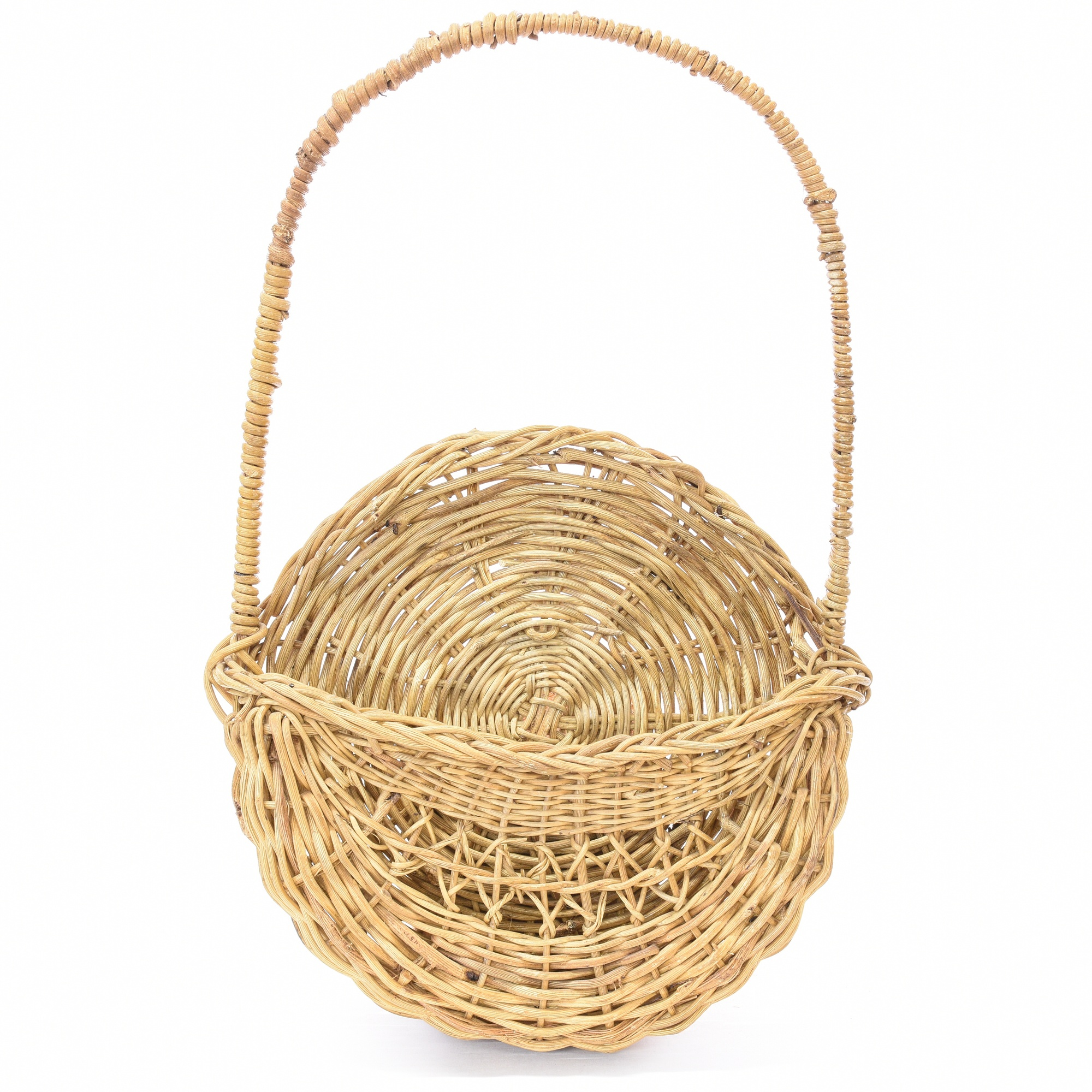 chinese woven wicker hanging wall basket loveseat vintage furniture san diego los angeles. Black Bedroom Furniture Sets. Home Design Ideas