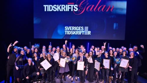Vinnarna av Tidkskriftspriset 2017.