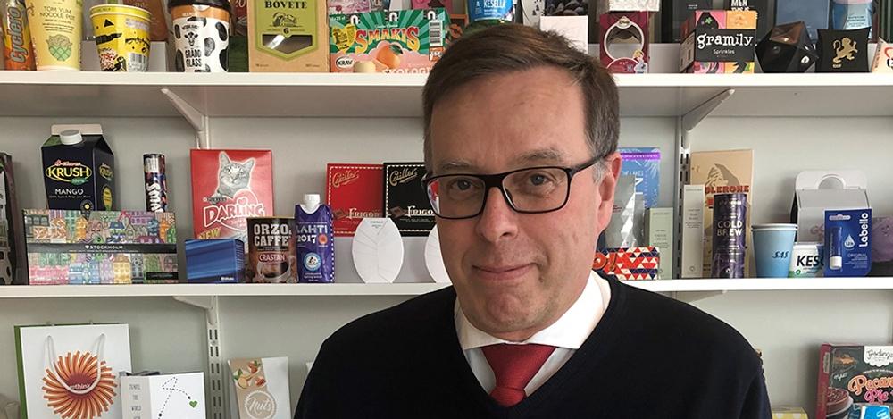 Anders Brolin är ny ordförande i Paper Province styrelse. Han jobbar till vardags som Director, Group Innovation and R&D, på Stora Enso med fokus på  forskningsrelationer. Foto: Stora Enso