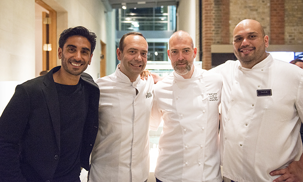 Dr Rupy Aujla, José Pizarro, Gather & Gather director of food Jeremy Ford and Ramael Scully